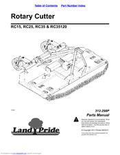 Land pride RC25 Manuals