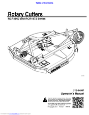 Land Pride Rotary Cutters RCR1860 Manuals