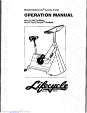 Life Fitness Lifecycle Aerobic Trainer 6000 Manuals