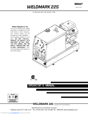 Lincoln Electric WELDMARK 225 IM927 User Manual (35 pages)