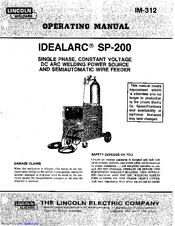 Lincoln Electric IDEALARC SP-200 Manuals