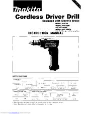 Makita CORDLESS DRIVER DRILL 6071D Manuals