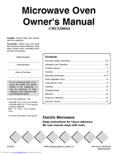 Maytag UMC5200AA Manuals