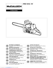 Mcculloch PRO MAC 72 Manuals