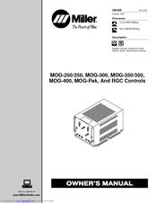 Miller Electric MOG-350 Manuals