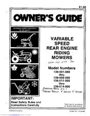 Mtd 138-501-000 Manuals