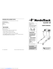 Nordictrack 1600 Treadmill Manuals