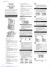 Oregon Scientific EW96 Manuals