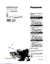 Panasonic DVDXV10 Operating Instructions Manual