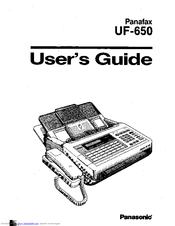 Panasonic Panafax UF-650 Manuals