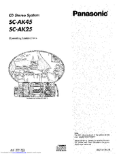 Panasonic SC-AK45 Manuals
