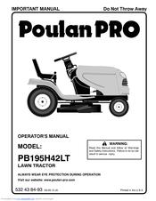 Poulan Pro PB195A46LT Manuals