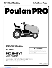 Poulan Pro PK23H48YT Manuals