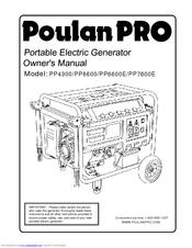 Poulan Pro PP7600E Manuals