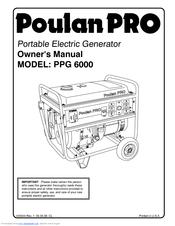 Poulan PPG 6000 Manuals