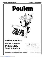Poulan Pro P8527ESA Manuals