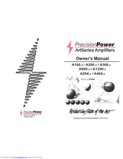 Precision Power A200.2 Owner's Manual