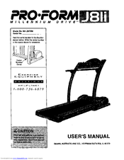 Proform J81I Manuals