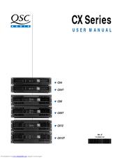Qsc CX Series Manuals