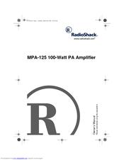 Radio Shack MPA-125 Manuals