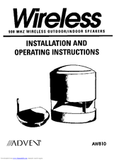 Advent Advent AW810 Manuals