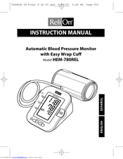 Relion Blood Pressure Monitor Manual