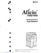 Ricoh Aficio 1035 Series Copy Reference Manual