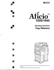 Ricoh Aficio 1035 Series Manuals