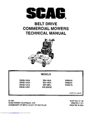 Scag Power Equipment SW36-13KH Manuals