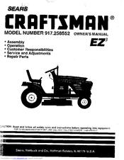 Sears 917.258552 Manuals