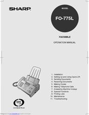 Sharp FO-775L Manuals