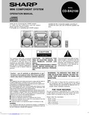Sharp CD-BA2100 Manuals