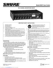 Shure M367 Manuals