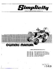 Simplicity 447 Manuals