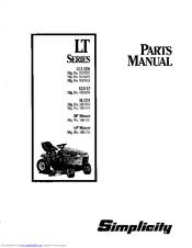 Simplicity 16 LTH Manuals