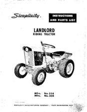 Simplicity 314 Instructions Manual (32 pages)