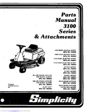 Simplicity 3100 Series Parts Manual (68 pages)