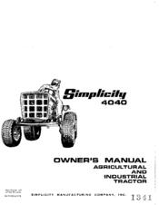 Simplicity 4040 Manuals
