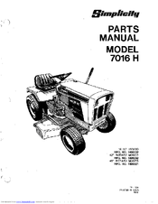 Simplicity 7016 Manuals