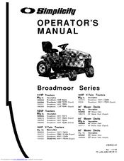 Simplicity Broadmoor 16HP V-Twin Manuals