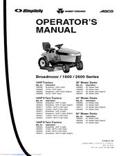Simplicity 2600 Series Manuals