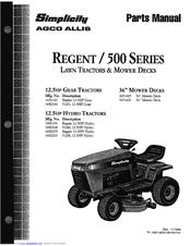 Simplicity Regent 1692259 Manuals
