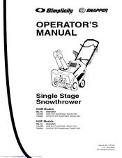 Snapper 1694585 Manuals