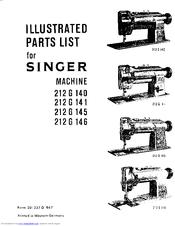 Singer 212G140 Manuals