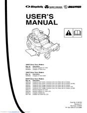 Snapper 20HP, 19HP, 18HP Manuals