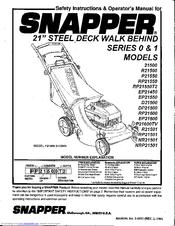 Snapper 21500 Manuals