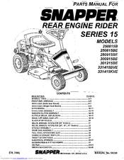 Snapper 331415KVE Manuals