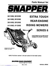 Snapper 3311X6S Manuals