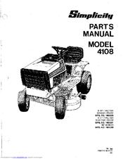 Simplicity 4108 Manuals