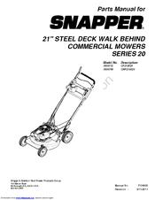 Snapper 7800772 Manuals
